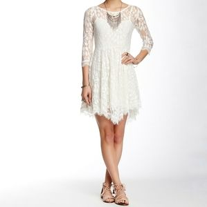 Free People Floral Lace Dress Sz 2 NWT